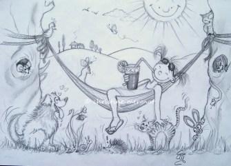 le jeu de l'été 2014...combien de bêtes voyez vous sur le dessin ?