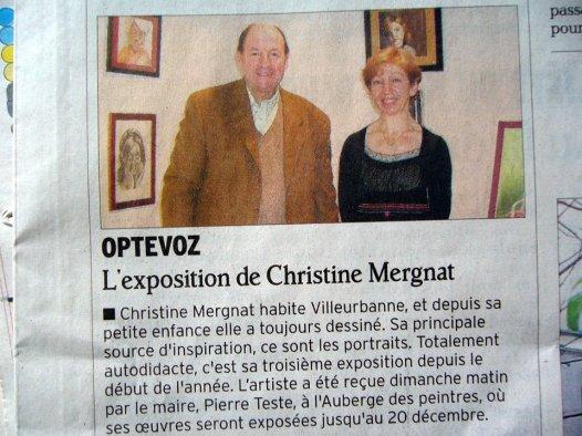 """Paru dans """"le Dauphiné"""" en décembre 2009"""