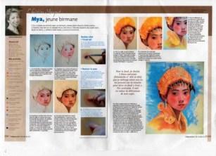 """démo """"Mya"""" dans le supplément pastel n° 27 de Pratique des Arts n° 121"""