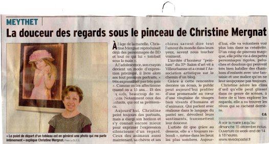 """Paru le 12.12.13 dans """"Le Dauphiné"""""""