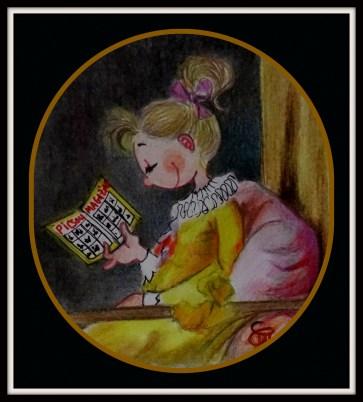 "adaptation de l'oeuvre de Fragonard ""La Liseuse"""