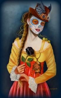 """""""la rose noire"""" Pastel 50 X 70 cm DISPO"""