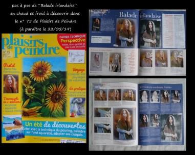 """""""Plaisirs de Peindre"""" n° 75 du 22/05/2019 avec pas à pas de """"Balade irlandaise en chaud et froid."""