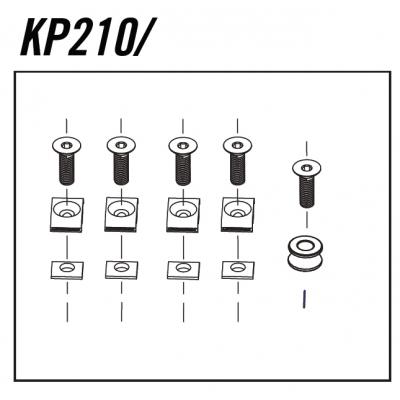 Cannondale Scalpel Cable Guide Bolt Kit x6, KP210