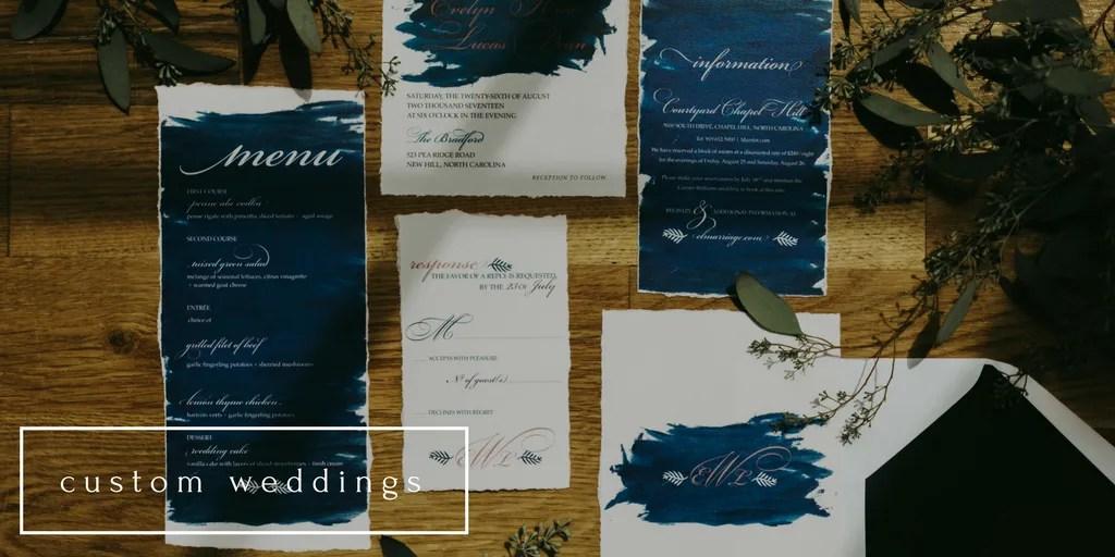 custom weddings by revelry + heart design studio
