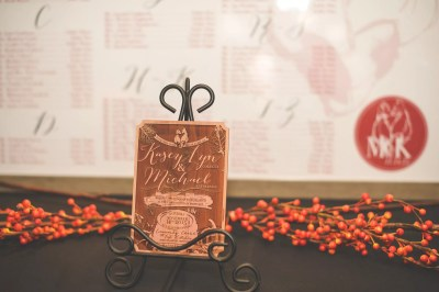 cedar wedding invitations with wood engraving fall wedding decor inspiration
