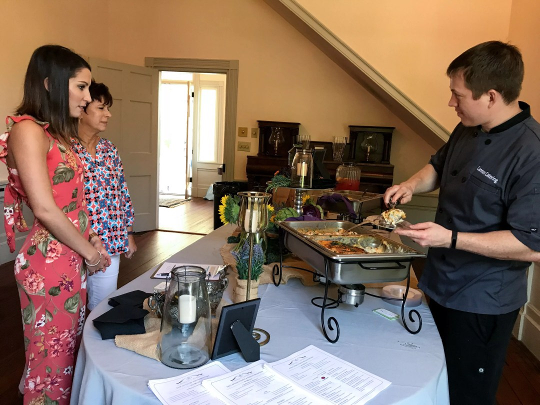 Cannon Catering serves up food to guests