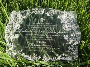 modern romance acrylic invitation