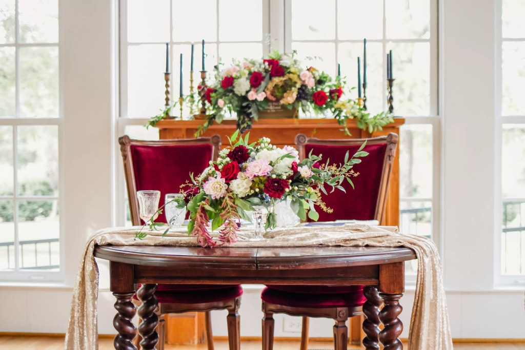 beauty and bordeaux styled shoot in raleigh, north carolina