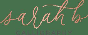 Sarah B. Calligraphy Logo