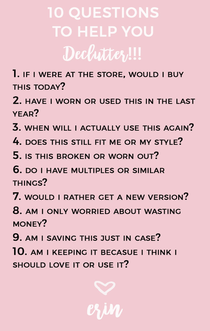The Dreaded Declutter  10 Questions to Help You Get Rid