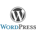Wordpress stacked logo.