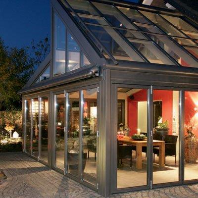 Cerramiento de terraza y techo cristal