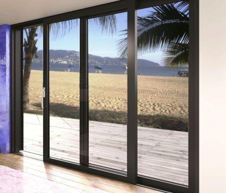 ventanales de aluminio para la terraza
