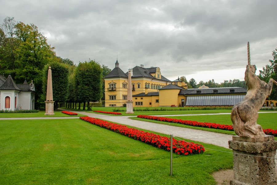 The gardens at Schloss Hellbrunn in Salzburg, Austria.