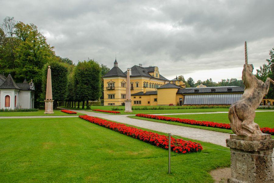 The gardens at Schloss Hellbrunn in Salzburg, Austria.