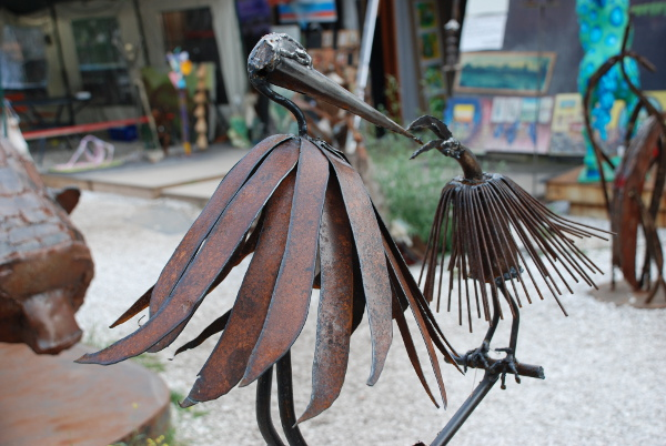Birds metalwork at Tacheles in Berlin, Germany