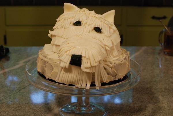 Schnauzer cake