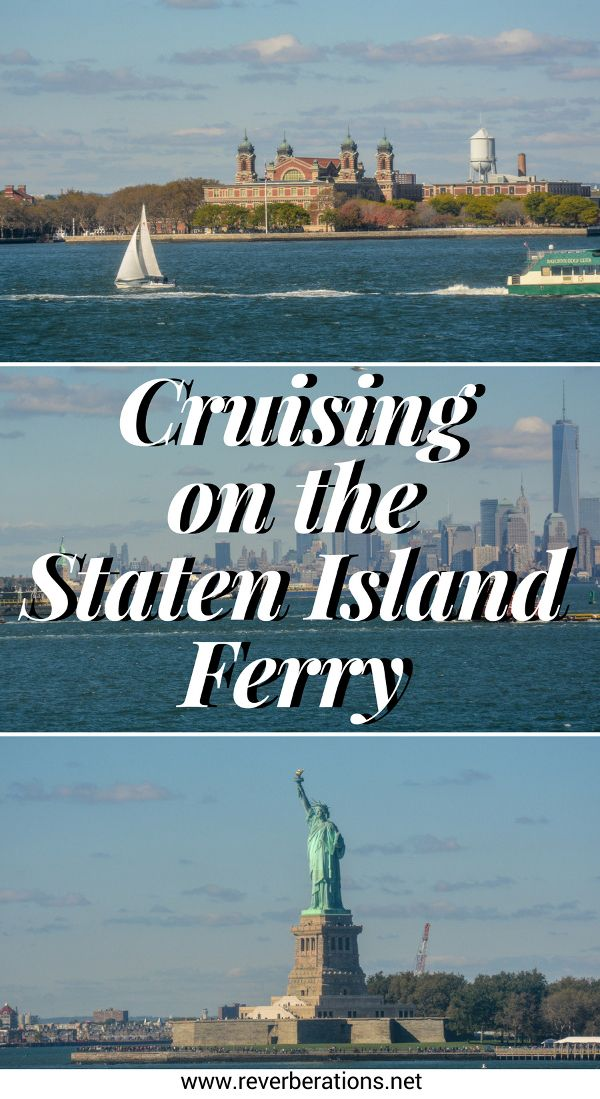 Cruising on the Staten Island Ferry in New York City. Travel tips for visiting. The Staten Island Ferry is definitely worth checking out: it is free and the views are lovely. #nyc #newyorkcity