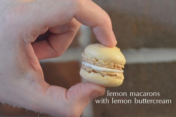 lemon macarons with lemon buttercream
