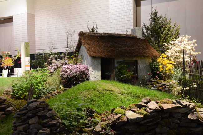 jump into ireland display at the philadelphia flower show