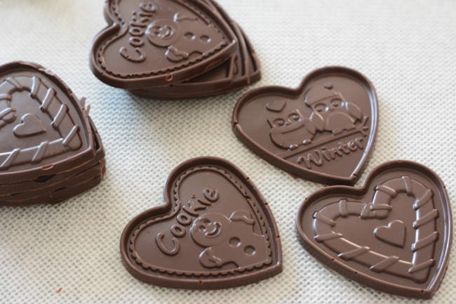 molded chocolate plaques