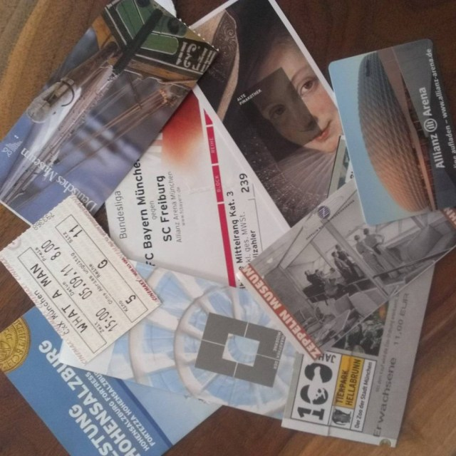 munich ticket stubs