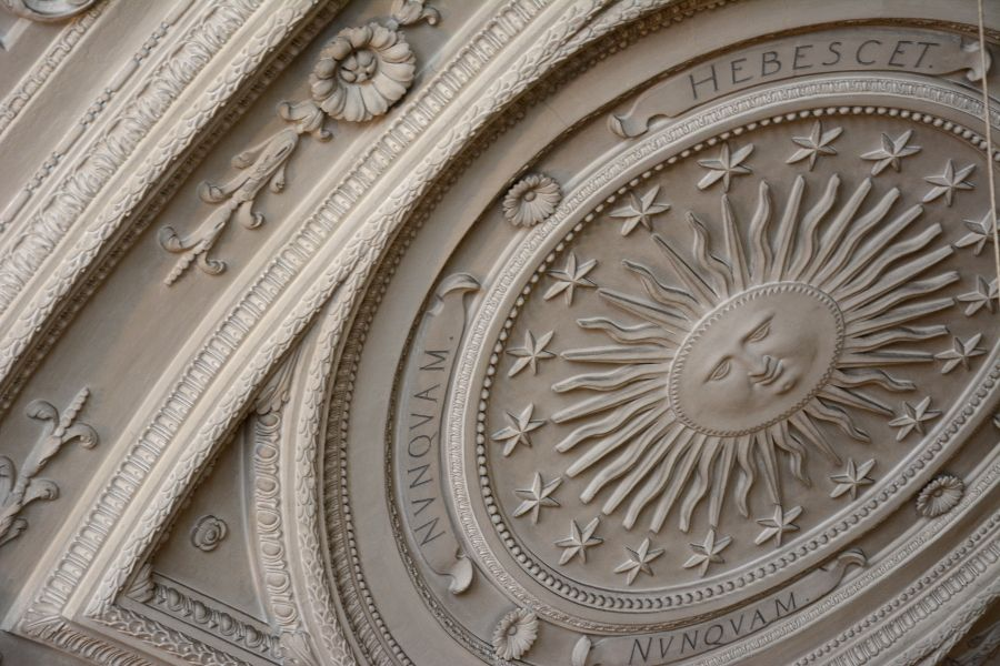 Ceiling of the Court Chapel at the Residenz Munich in Germany.