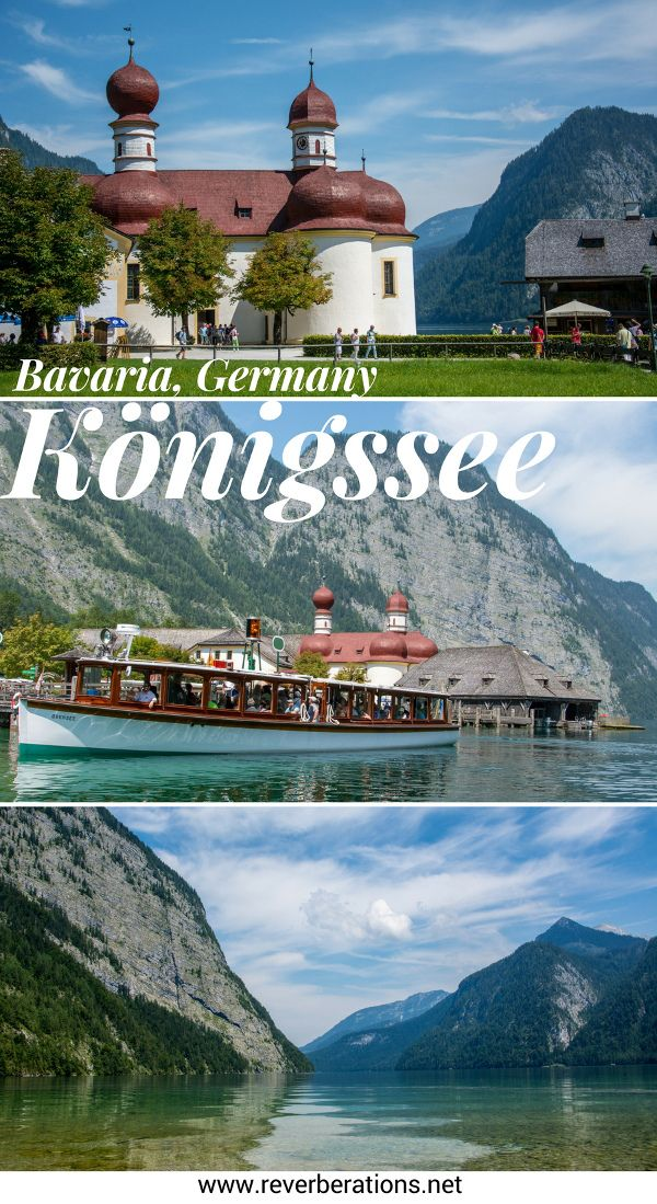 One of Bavaria's numerous lakes, Königssee is beautiful. Crystal clear water, Watzmann peak of the German Alps and St. Bartholomew: it is not to be missed! #bavaria #germany
