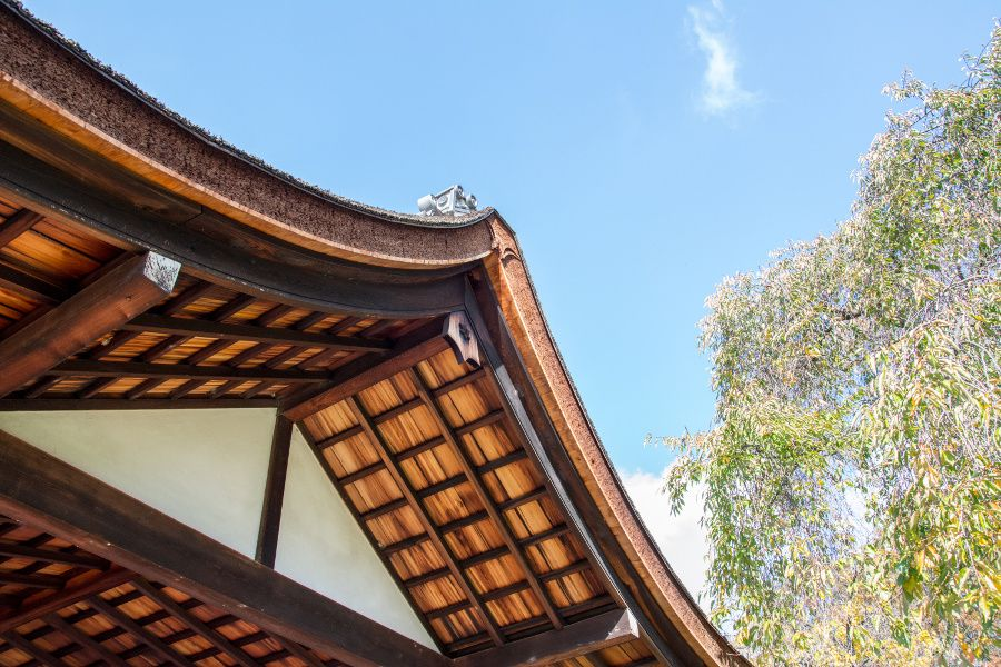Roof of the Japanese house at Shofuso in Philadelphia.