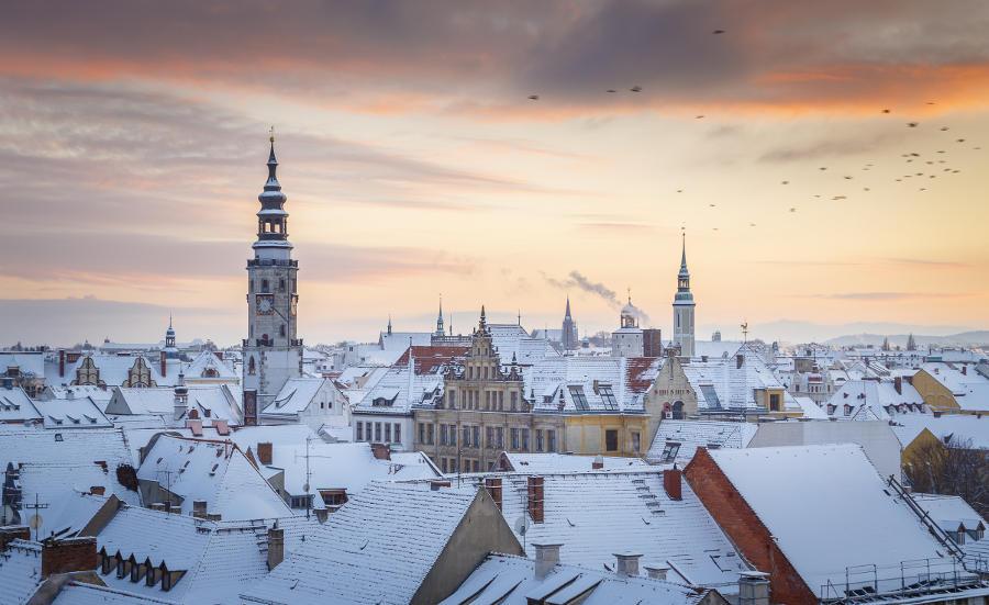 Görlitzer Altstadt im Winter /// Foto: Nikolai Schmidt Görlitz