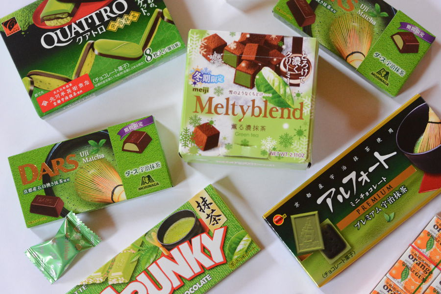 There's more to Japanese candy than Pocky. Check out these five matcha green tea chocolate candies and some fun bubble gum!