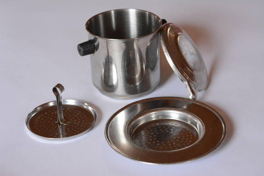 A Vietnamese coffee filter or Phin