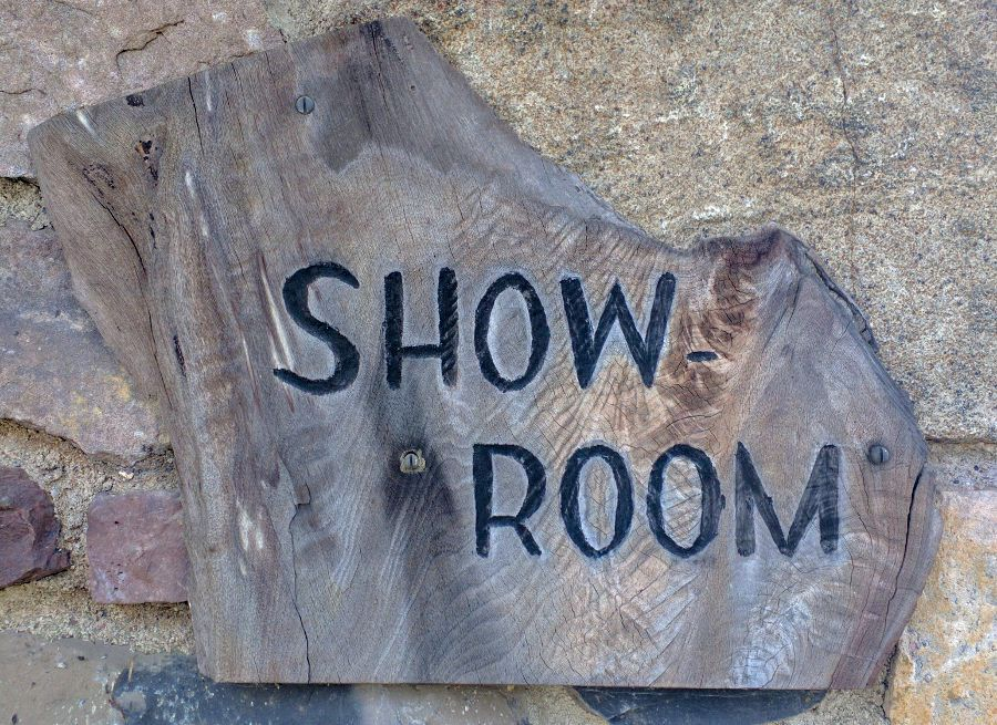Showroom at the George Nakashima Workshop is open for tours.