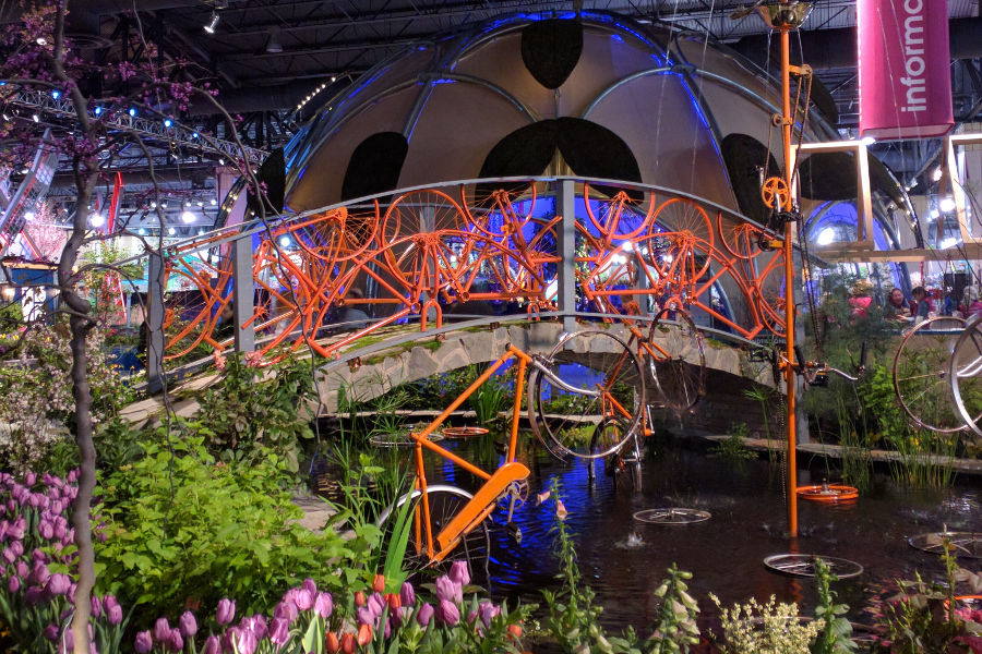 Like a scene straight from The Netherlands at the Philadelphia Flower Show 2017.