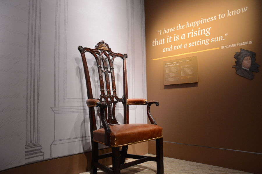 Rising sun chair. Philadelphia's brand new Museum of the American Revolution shares the real stories of the struggles and war that helped found the United States.