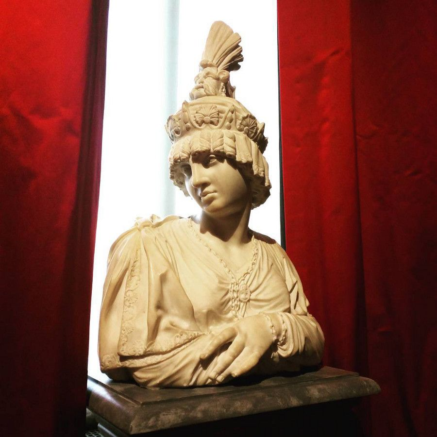 A bust at the Philadelphia Museum of Art.
