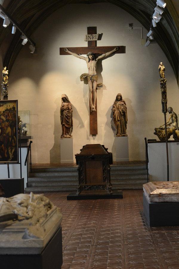 Crucifix room in Bayerisches Nationalmuseum.