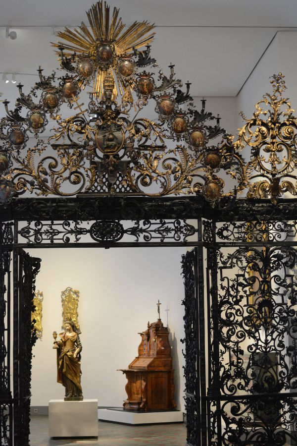An ornate gate at Bayerisches Nationalmuseum.