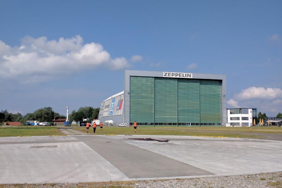 The Zeppelin Hangar in Friedrichshafen, Germany.
