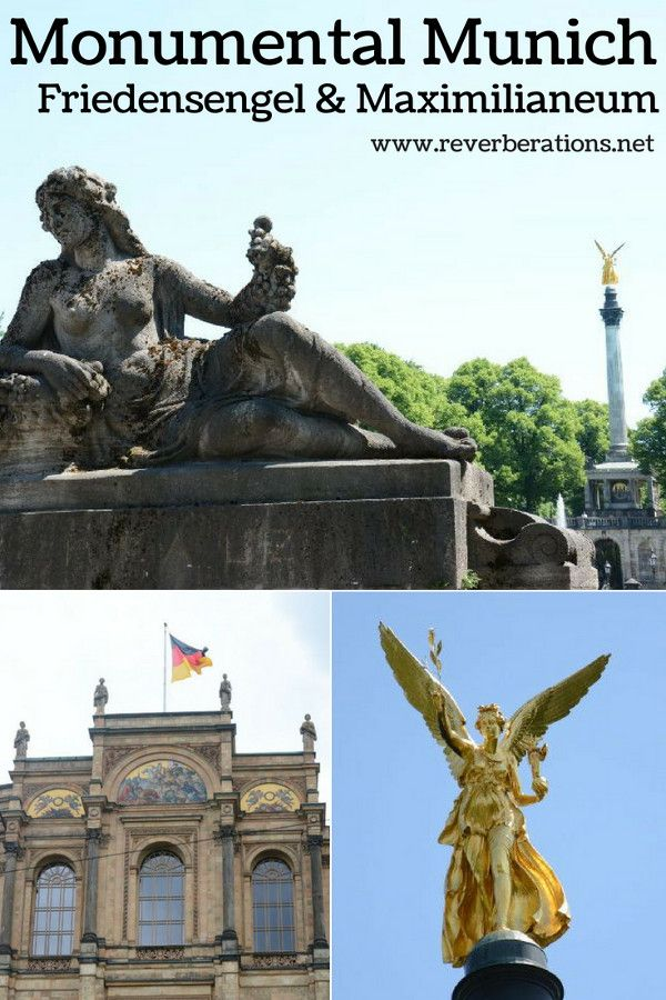 Munich's Friedensengel (Angel of Peace) and the Maximilianeum, the Bavarian parliament, are impressive sights that can't be missed and are free of charge. #munich #bavaria #germany #travel