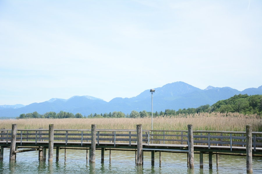 The mountains and lake Chiemsee.