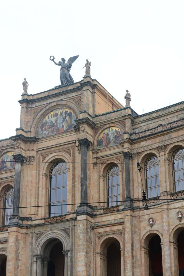 An angel atop the Maximilianeum in Munich, Germany.