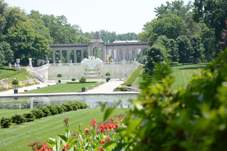 The gardens at Nemours Mansion.
