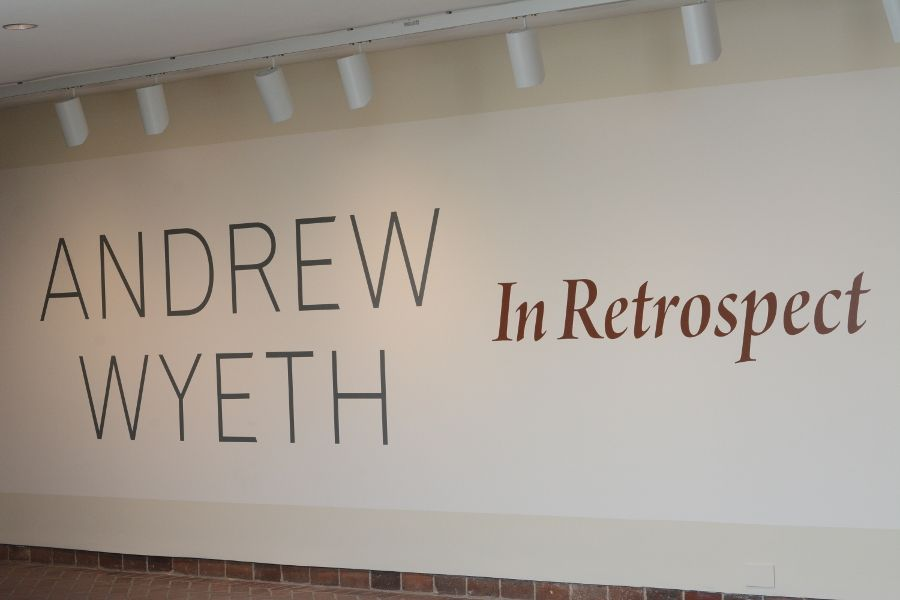 Andrew Wyeth: In Retrospect exhibition at the Brandywine River Museum of Art.