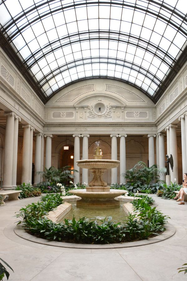 Inside the Frick Collection's Garden Court.