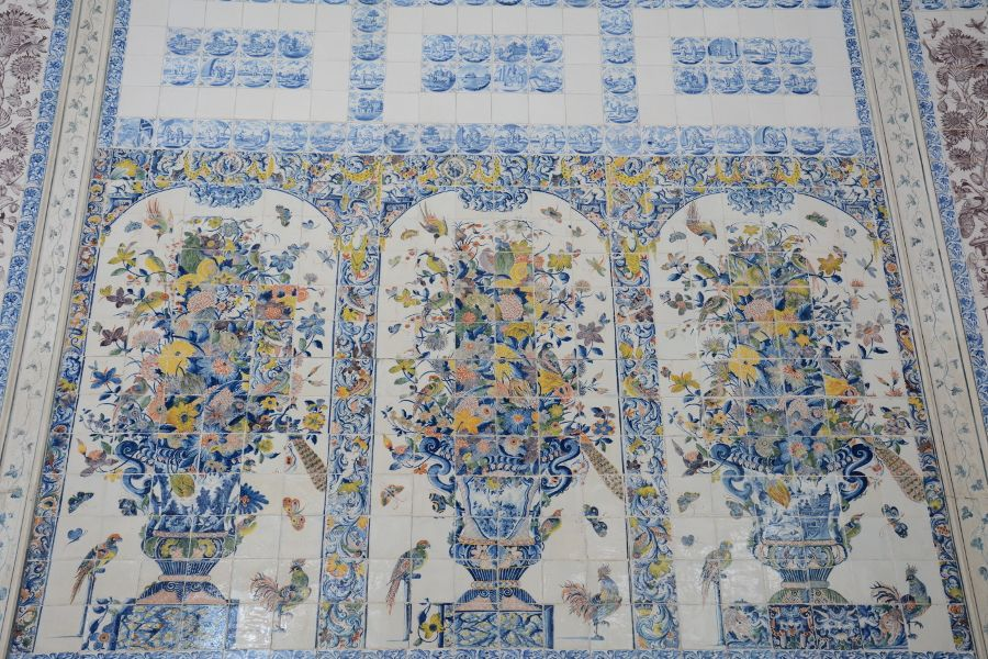 Tiles in Amalienburg in Munich, Germany.
