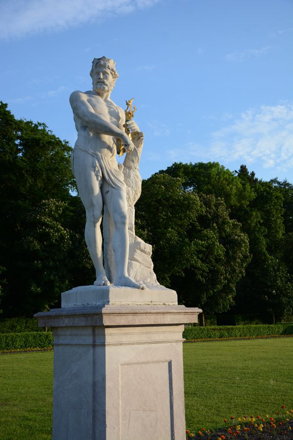 Statue at Nymphenburg Palace in Munich, Germany.