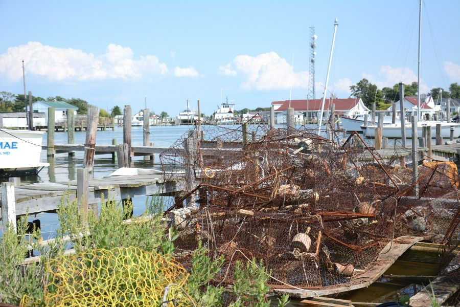 Old crab pots in Ewell on Smith Island.