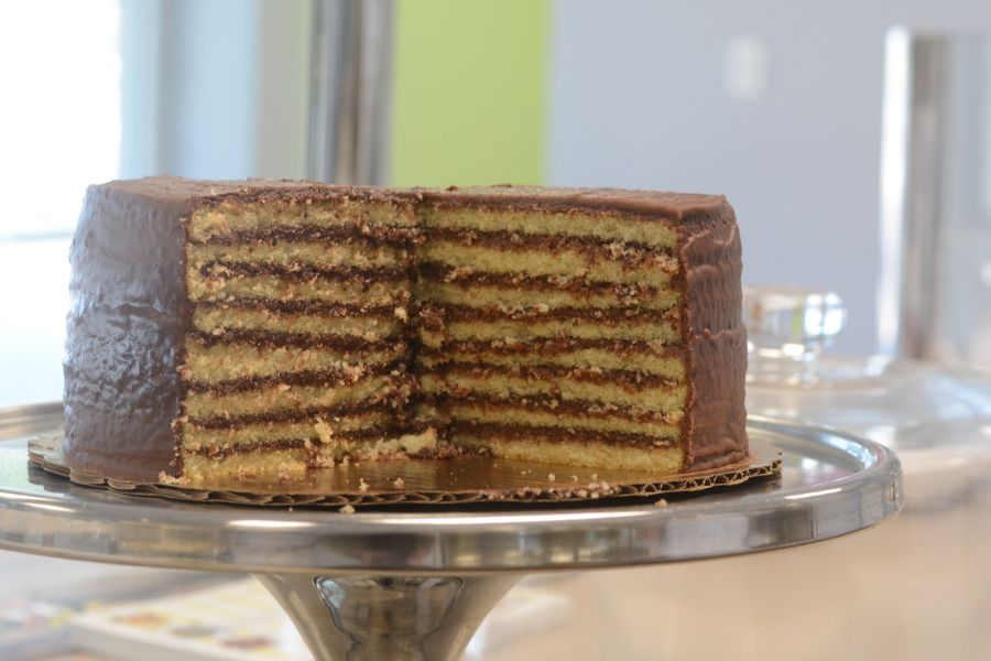 A classic Smith Island Cake from Smith Island Baking Company.